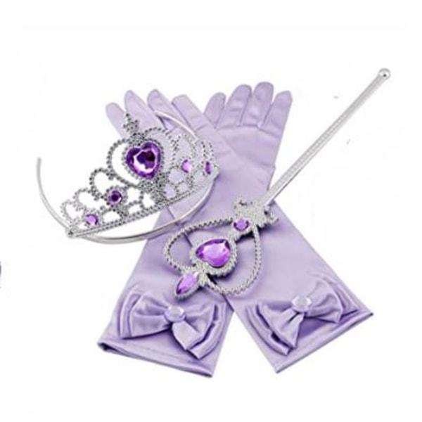 Lila Prinsess set till Prinsessklänningar Lila one size