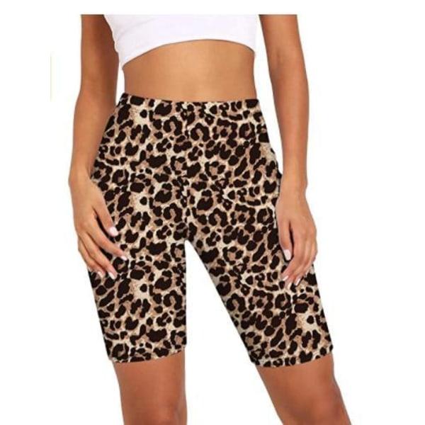 Leopardmönstrade shorts MultiColor S