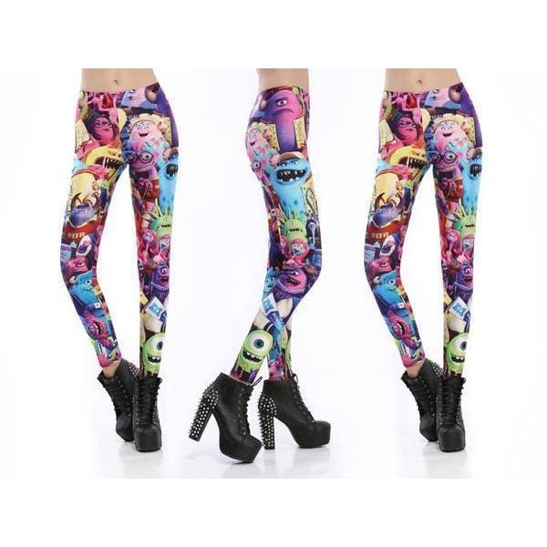 Färgglada Monster Leggings MultiColor M