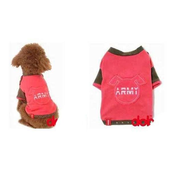 Rosa Hundtröja Army Pink S