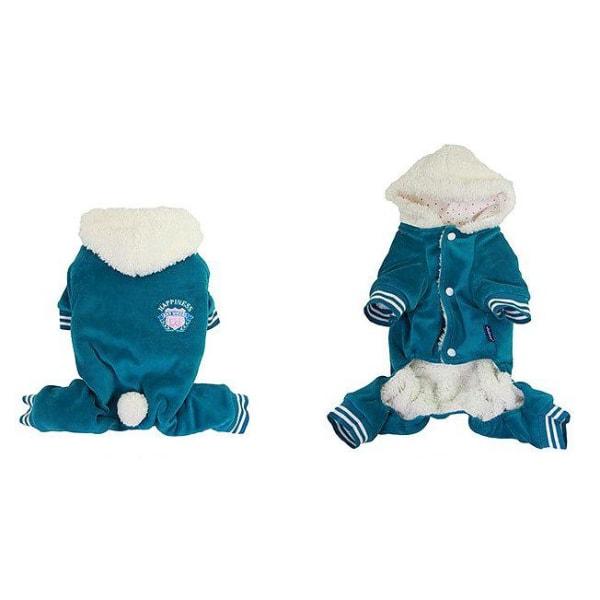 Jumpsuit i plysch Blue XL