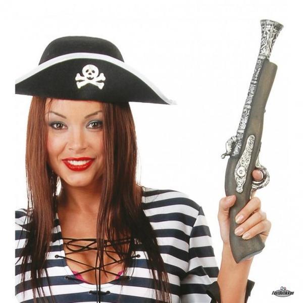 Pirat pistol Gold one size