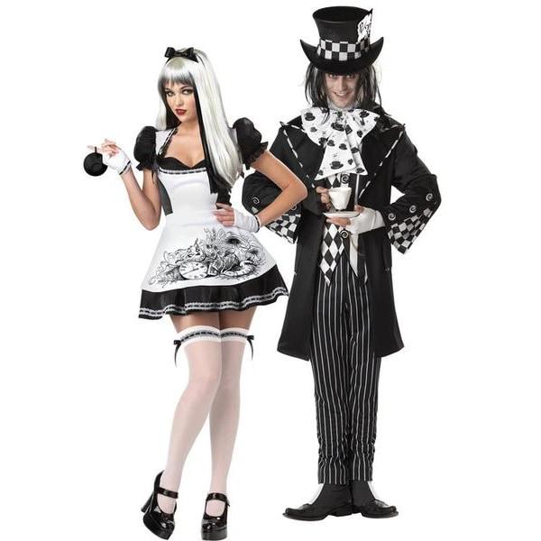 Dark Mad Hatter Maskeraddräkt Halloween Svart L
