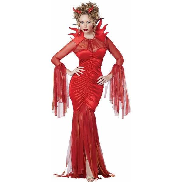 Djävulsk Diva Maskeraddräkt Halloween Red XL