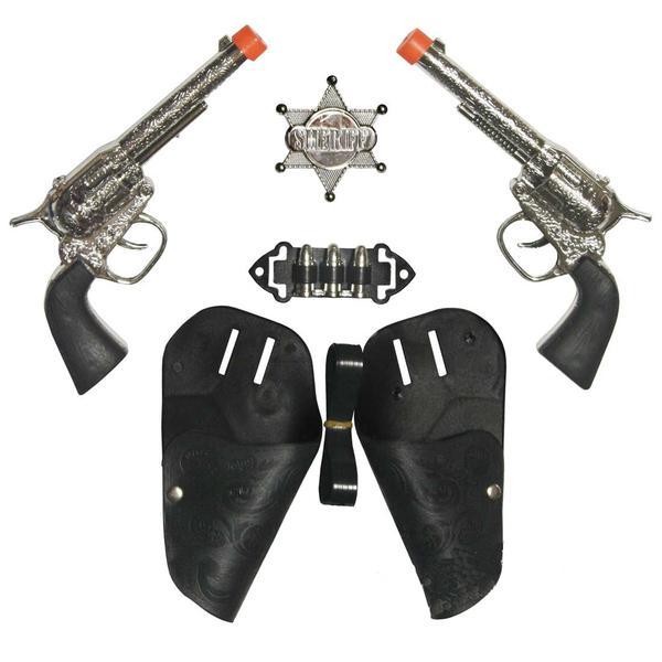 Cowboyset pistoler med tillbehör. multifärg one size
