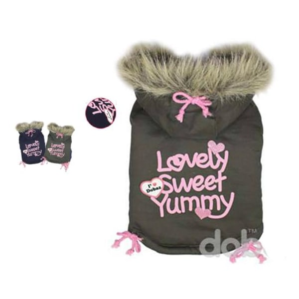 Hundjacka Sweet yummy khaki och mörkblå MultiColor XXL