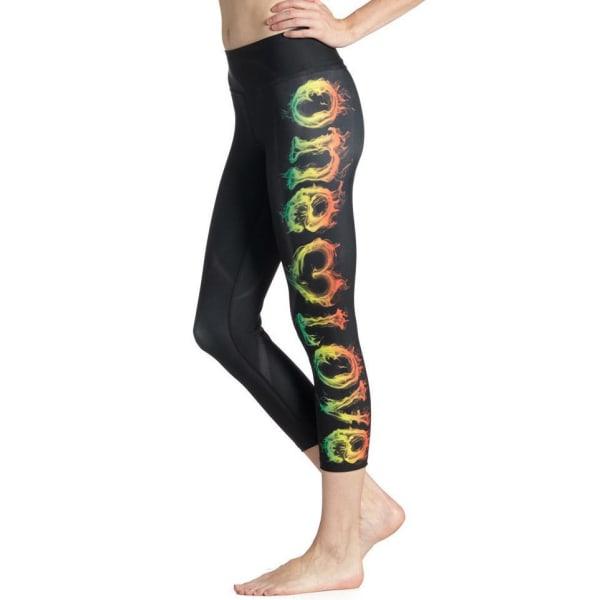 One Love Yoga Capri Leggings Black M