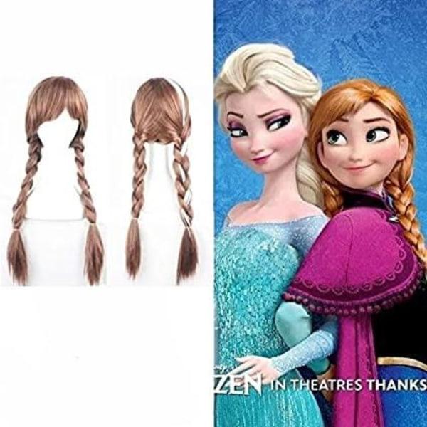 Peruk Frozen för barn Ljusbrun one size