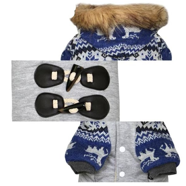 Vinterjacka med Oxhornsknappar Blue S