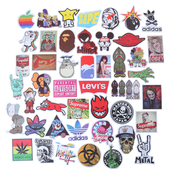 100st Mode Graffiti Klistermärken Skateboard Laptop Bagage Guit