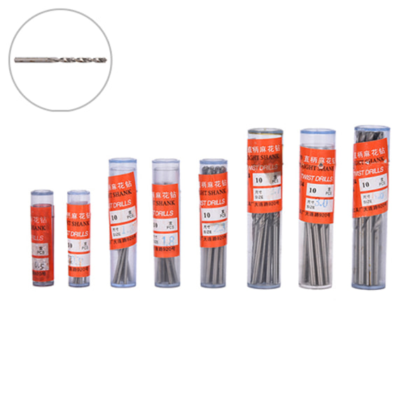 10st Micro HSS 0,3-3mm rakt skaft Twist Drilling Bits Sets