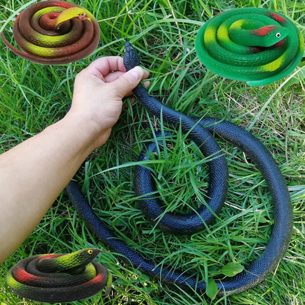 1Pc realistiskt mjukt gummi leksak orm safari trädgård prop skämt pra