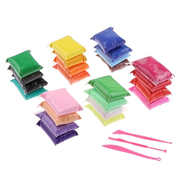 24/36 Färger / uppsättning Polymerlera med verktyg Lätt plasticineleksak