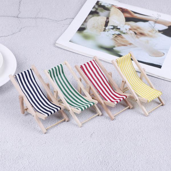 2st 1:12 Mini dockhus trä strandstol miniatyrer hem sc