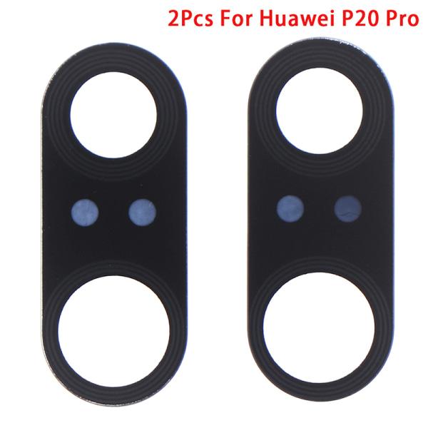 2st för Huawei P20 Pro bakre bakre kameralinsglasfodral med