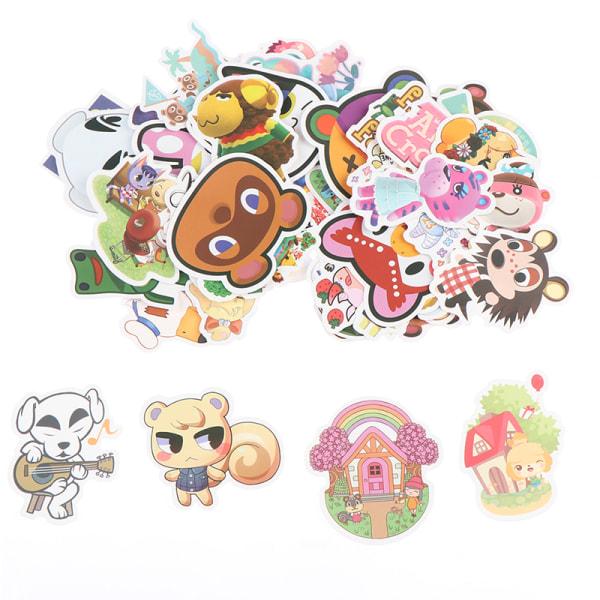 50st Animal Crossing Game Stickers Skateboard Kylskåp Laptop Lu
