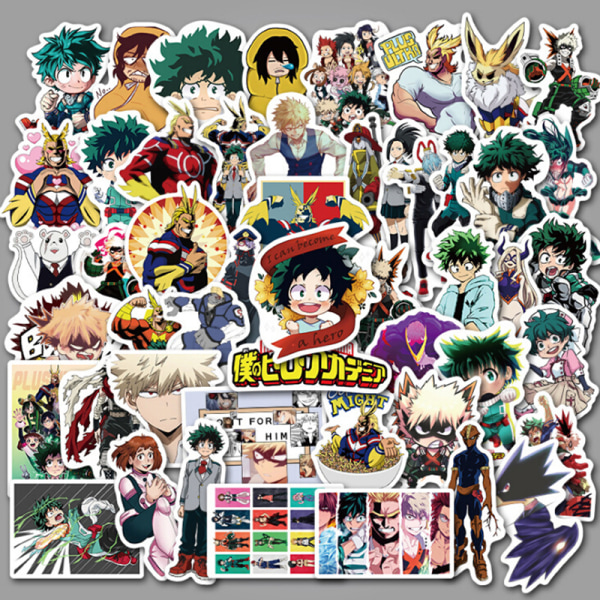 50st My Boku No Hero Academia Skateboard Anime Stickers Laptop