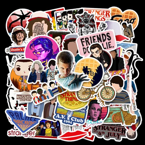 50st Stranger Things Skateboard Stickers Vinyl Laptop Bagage