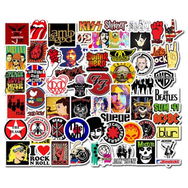 52st Rock and Roll Hip Hop Punk Music Band Stickers för telefon