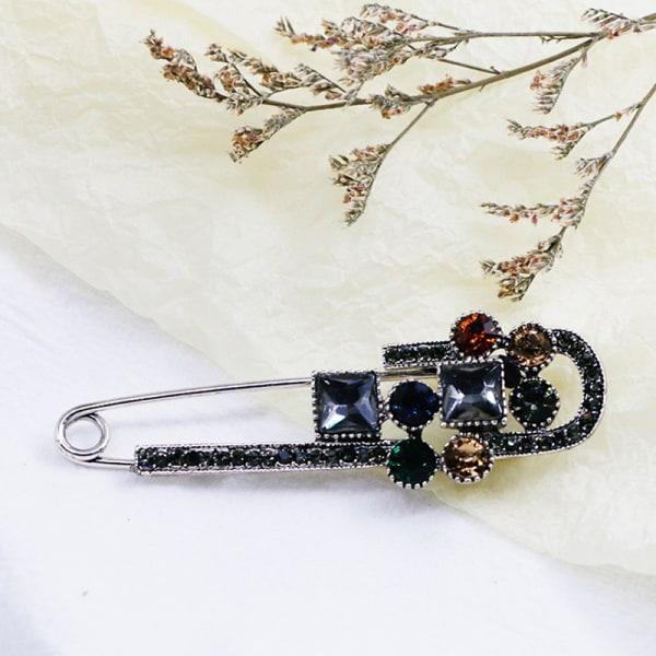 krystal säker broscher för kvinnor vintage stor vårdesign One Size