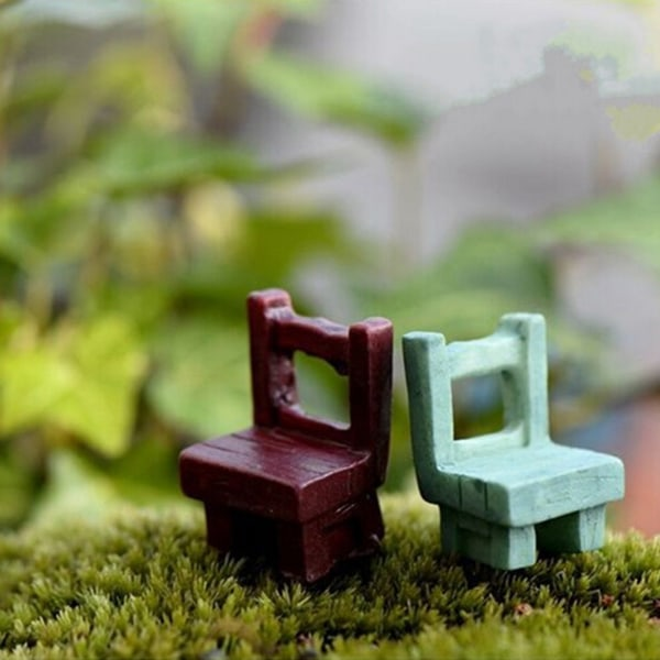 Fairy Garden Ornament Tables Stolar Möbler Figurine Craft Pl