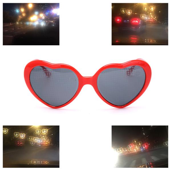 Heart Effect Diffraction Glasses Hjärtljus Hjärtformad Speci