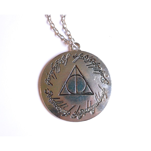 Halsband Harry Potter Deathly Hallows text