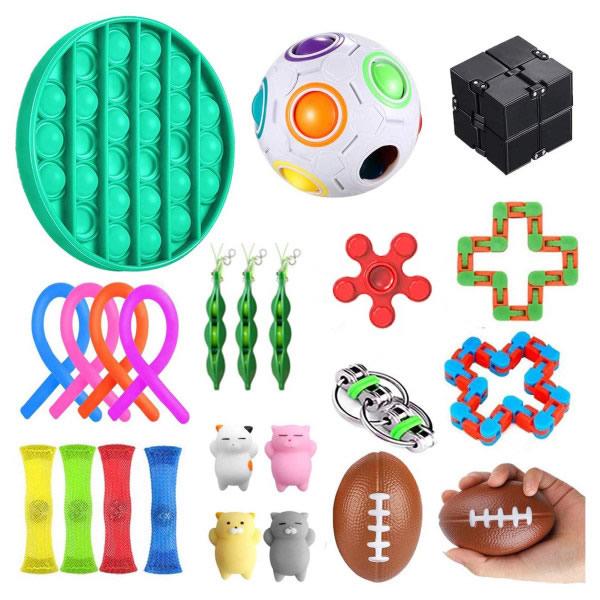 24st Fidget Toys Set för barn och vuxna Flerfärgad