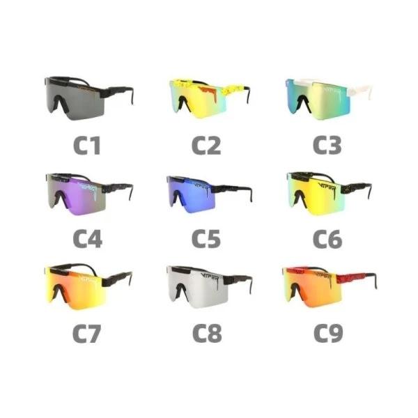 Cykling Vindtät Sport Polariserad Pit Vipe Unisex solglasögon C9