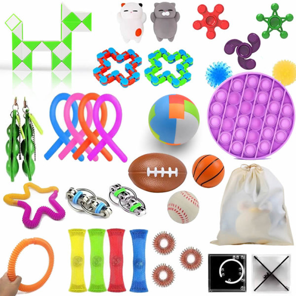 36st Fidget Toys Set Sensory Pop it Leksaker för barn
