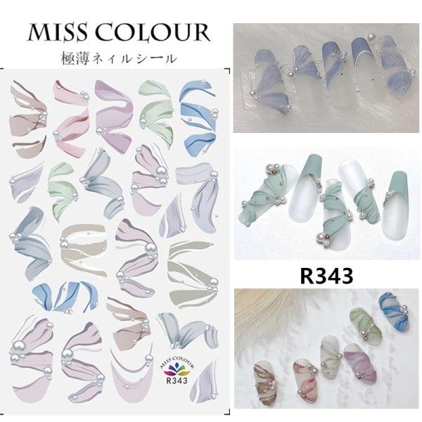 3D Nail Stickers INS Style Ballet Ribbon Nail Patch Sticker