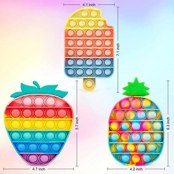 3 -pack Pop It Fidget -leksaker för barn och vuxna