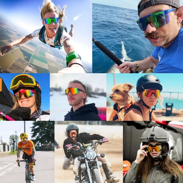 Unisex polariserade Pit Vipe sport solglasögon C5