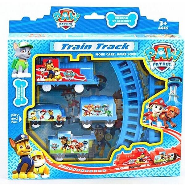 Elektriska tågspår Leksaker Anime Figur Valpleksak för barn