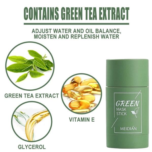Grön te-stickmask tar bort hudormar Oljekontroll Anti-Ac
