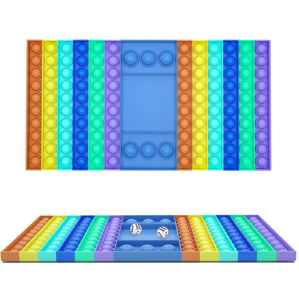 Stor rektangel Pop it Fidget sensorisk leksak Stressavlastningsleksak As picture shown