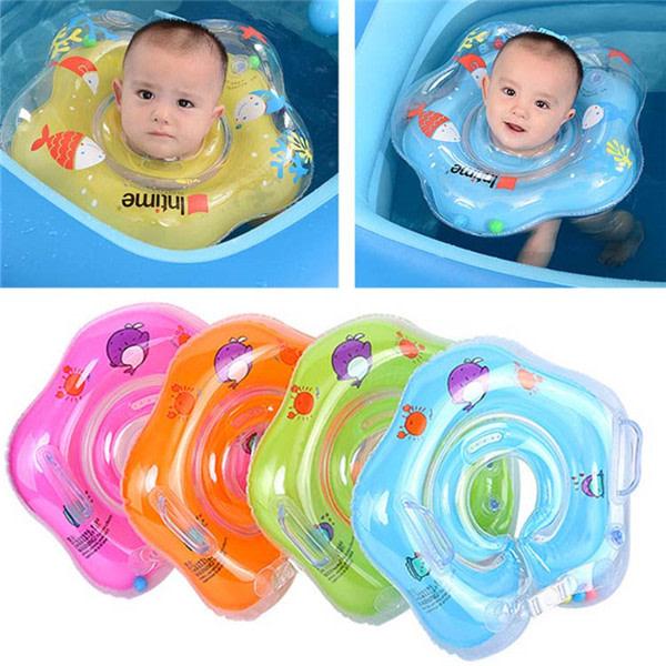 Simningsringar Baby simmar hals flyter spädbarn cirklar