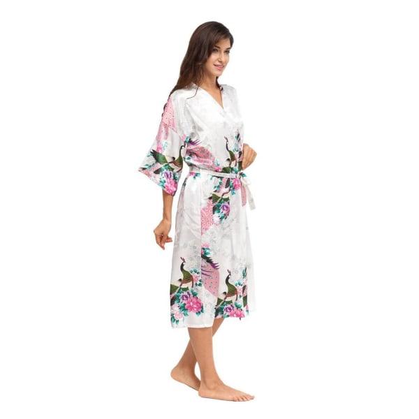 Soft Silk Kimono Robe Dressing Dress