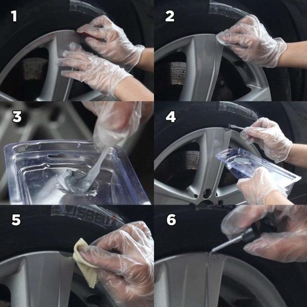 Reparationskit Hjulreparation för fälgar till bil fälg