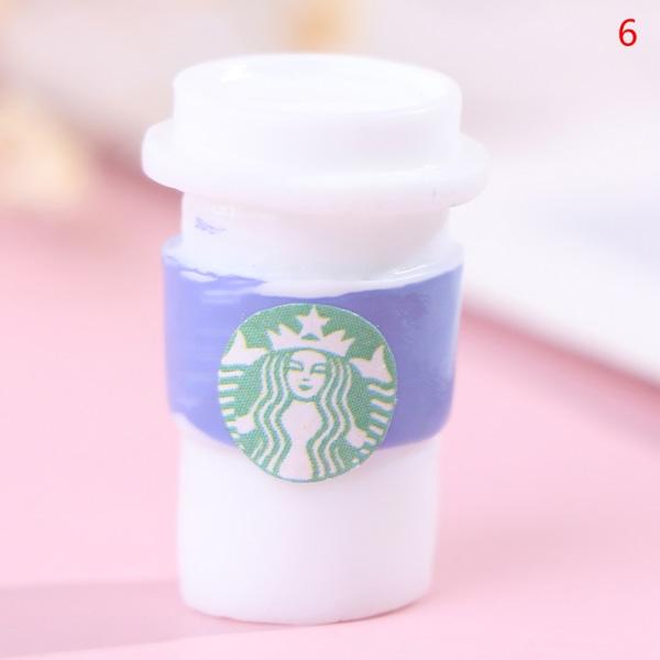 3st 1:12 dockhus Miniatyr Kaffe Drycker Cup Modell Dolls Kit 6(A Purple)