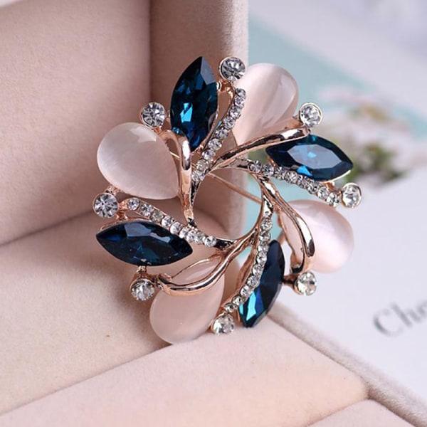 1 PC mode ny Crystal Bauhinia form brosch för kvinnor klänning