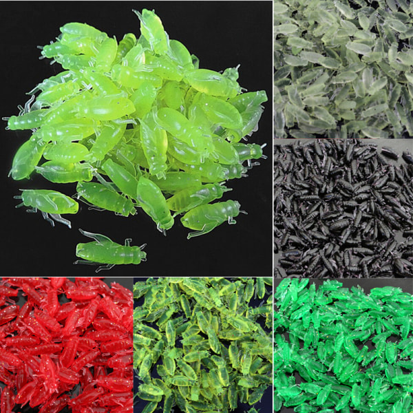 10/50/100 st silikon mjuk gräshoppa form bete fiske lock