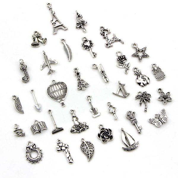 100st Bulk Lots Tibetansk Silver Mix Hängen Charms Craft Jewel