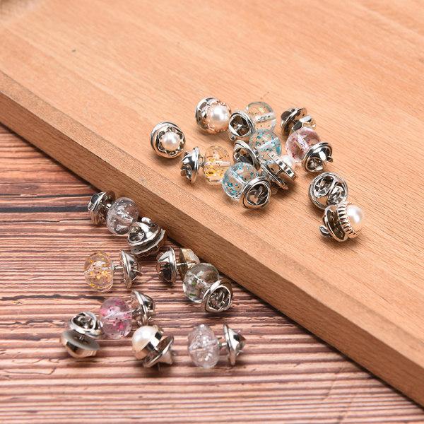 10st kvinnor pärla brosch pin ställa in knapp anti exponering sjal shir B-10pcs