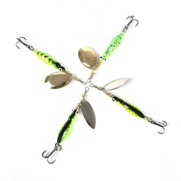 15g 70mm insekter fiske lock sked konstgjord spinner bete Met