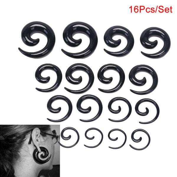 16st / Set Spiral Taper Flesh Tunnel Ear Stretcher Expander Stre