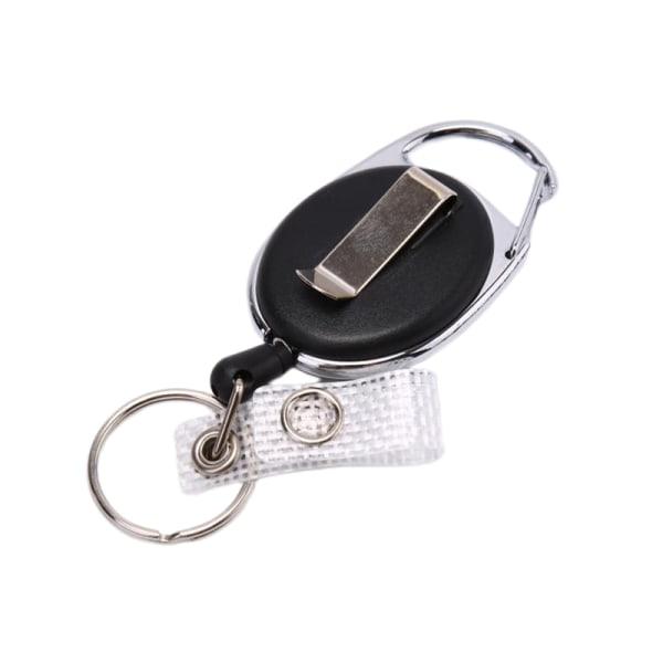 1PC Svart Wire Rope Nyckelring Nyckelring Stålsladd 60cm Infällbar