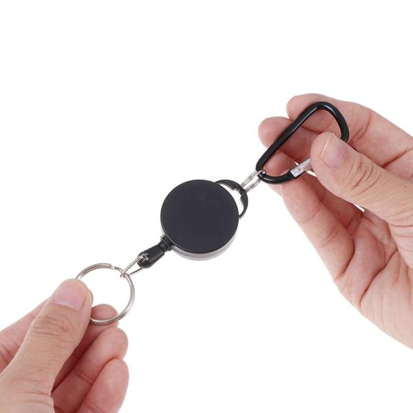 2st infällbar nyckelring rulle rekyl pull badge rulle med 68c