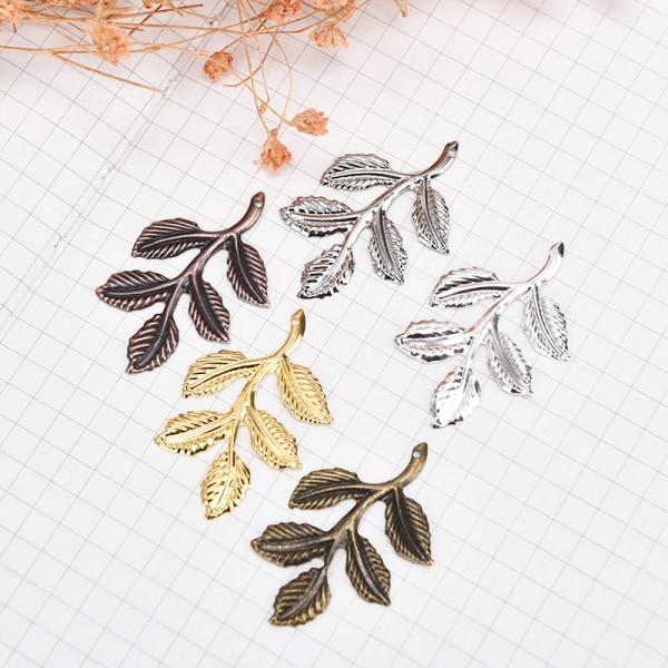 30st / set Leaf Filigree Wraps Connectors Metal Charm DIY Findin