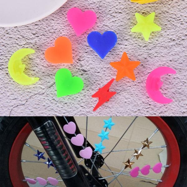 36PC Cykelhjul Eker Plastpärlor Flerfärgad Barn Cl